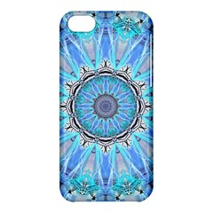 Sapphire Ice Flame, Light Bright Crystal Wheel Apple Iphone 5c Hardshell Case by DianeClancy
