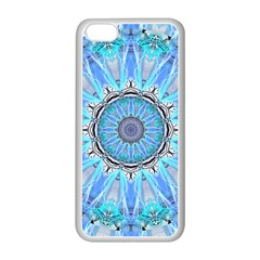 Sapphire Ice Flame, Light Bright Crystal Wheel Apple Iphone 5c Seamless Case (white) by DianeClancy