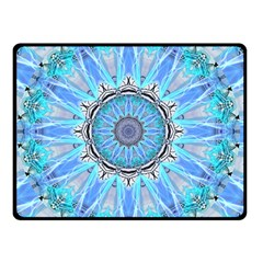 Sapphire Ice Flame, Light Bright Crystal Wheel Double Sided Fleece Blanket (small)  by DianeClancy