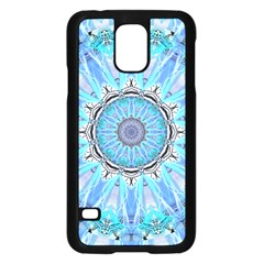 Sapphire Ice Flame, Light Bright Crystal Wheel Samsung Galaxy S5 Case (black) by DianeClancy