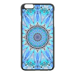 Sapphire Ice Flame, Light Bright Crystal Wheel Apple Iphone 6 Plus/6s Plus Black Enamel Case by DianeClancy
