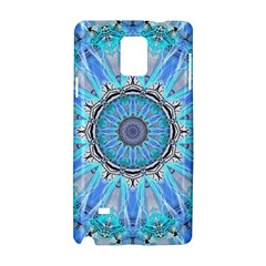 Sapphire Ice Flame, Light Bright Crystal Wheel Samsung Galaxy Note 4 Hardshell Case by DianeClancy