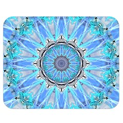 Sapphire Ice Flame, Light Bright Crystal Wheel Double Sided Flano Blanket (medium)  by DianeClancy