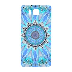 Sapphire Ice Flame, Light Bright Crystal Wheel Samsung Galaxy Alpha Hardshell Back Case by DianeClancy