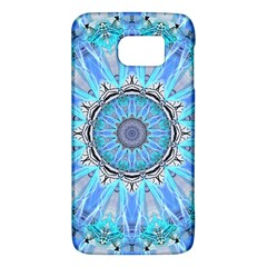 Sapphire Ice Flame, Light Bright Crystal Wheel Galaxy S6 by DianeClancy