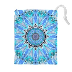 Sapphire Ice Flame, Light Bright Crystal Wheel Drawstring Pouches (extra Large) by DianeClancy