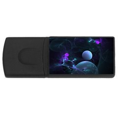 The Music Of My Goddess, Abstract Cyan Mystery Planet Usb Flash Drive Rectangular (4 Gb)  by DianeClancy