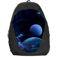 The Music Of My Goddess, Abstract Cyan Mystery Planet Backpack Bag by DianeClancy