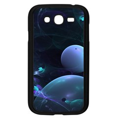 The Music Of My Goddess, Abstract Cyan Mystery Planet Samsung Galaxy Grand Duos I9082 Case (black) by DianeClancy