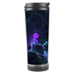 The Music Of My Goddess, Abstract Cyan Mystery Planet Travel Tumblers by DianeClancy