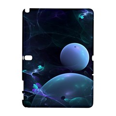 The Music Of My Goddess, Abstract Cyan Mystery Planet Samsung Galaxy Note 10 1 (p600) Hardshell Case by DianeClancy