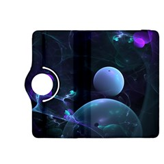The Music Of My Goddess, Abstract Cyan Mystery Planet Kindle Fire Hdx 8 9  Flip 360 Case by DianeClancy