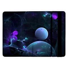The Music Of My Goddess, Abstract Cyan Mystery Planet Samsung Galaxy Tab Pro 12 2  Flip Case by DianeClancy