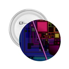 Jewel City, Radiant Rainbow Abstract Urban 2 25  Buttons by DianeClancy