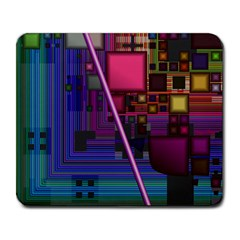 Jewel City, Radiant Rainbow Abstract Urban Large Mousepads by DianeClancy