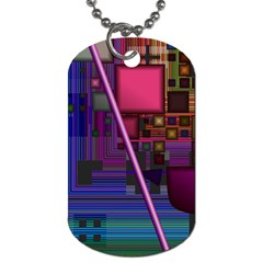 Jewel City, Radiant Rainbow Abstract Urban Dog Tag (one Side) by DianeClancy