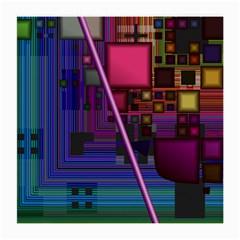 Jewel City, Radiant Rainbow Abstract Urban Medium Glasses Cloth (2 Side) by DianeClancy