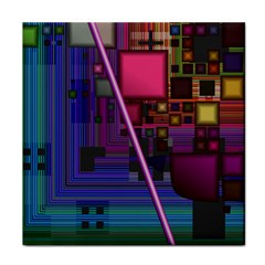 Jewel City, Radiant Rainbow Abstract Urban Face Towel by DianeClancy