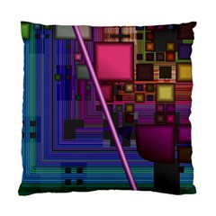 Jewel City, Radiant Rainbow Abstract Urban Standard Cushion Case (two Sides) by DianeClancy