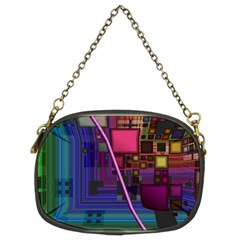 Jewel City, Radiant Rainbow Abstract Urban Chain Purses (two Sides)  by DianeClancy