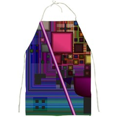 Jewel City, Radiant Rainbow Abstract Urban Full Print Aprons by DianeClancy