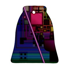 Jewel City, Radiant Rainbow Abstract Urban Ornament (bell)  by DianeClancy