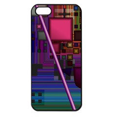 Jewel City, Radiant Rainbow Abstract Urban Apple Iphone 5 Seamless Case (black) by DianeClancy