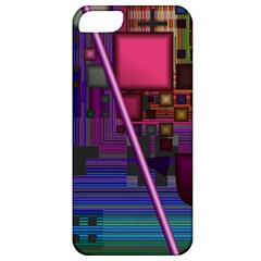 Jewel City, Radiant Rainbow Abstract Urban Apple Iphone 5 Classic Hardshell Case by DianeClancy