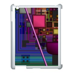 Jewel City, Radiant Rainbow Abstract Urban Apple Ipad 3/4 Case (white) by DianeClancy