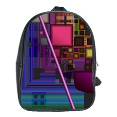 Jewel City, Radiant Rainbow Abstract Urban School Bags (xl)  by DianeClancy