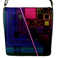 Jewel City, Radiant Rainbow Abstract Urban Flap Messenger Bag (s) by DianeClancy