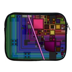 Jewel City, Radiant Rainbow Abstract Urban Apple iPad 2/3/4 Zipper Cases by DianeClancy