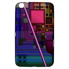 Jewel City, Radiant Rainbow Abstract Urban Samsung Galaxy Tab 3 (8 ) T3100 Hardshell Case  by DianeClancy