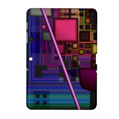 Jewel City, Radiant Rainbow Abstract Urban Samsung Galaxy Tab 2 (10 1 ) P5100 Hardshell Case  by DianeClancy