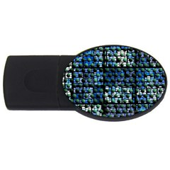 Looking Out At Night, Abstract Venture Adventure (venture Night Ii) Usb Flash Drive Oval (4 Gb)  by DianeClancy