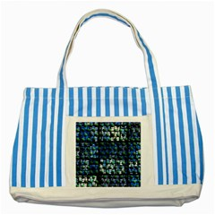Looking Out At Night, Abstract Venture Adventure (venture Night Ii) Striped Blue Tote Bag by DianeClancy