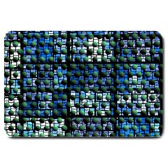 Looking Out At Night, Abstract Venture Adventure (venture Night Ii) Large Doormat  by DianeClancy