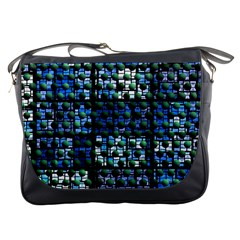 Looking Out At Night, Abstract Venture Adventure (venture Night Ii) Messenger Bags by DianeClancy