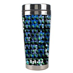 Looking Out At Night, Abstract Venture Adventure (venture Night Ii) Stainless Steel Travel Tumblers by DianeClancy
