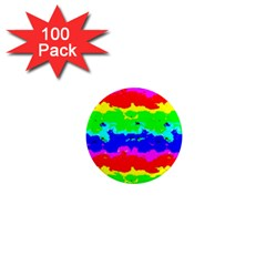 Colorful Digital Abstract  1  Mini Magnets (100 Pack)  by dflcprints