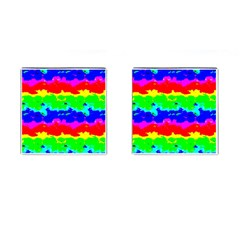 Colorful Digital Abstract  Cufflinks (square) by dflcprints