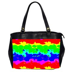 Colorful Digital Abstract  Office Handbags (2 Sides)  by dflcprints