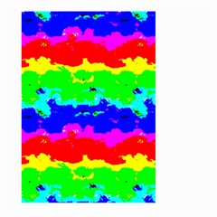 Colorful Digital Abstract  Large Garden Flag (two Sides) by dflcprints