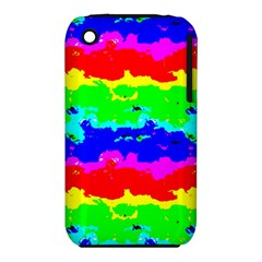 Colorful Digital Abstract  Apple iPhone 3G/3GS Hardshell Case (PC+Silicone) by dflcprints