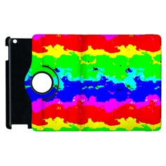 Colorful Digital Abstract  Apple Ipad 2 Flip 360 Case by dflcprints