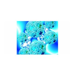 Blue Ice Crystals, Abstract Aqua Azure Cyan Satin Wrap by DianeClancy