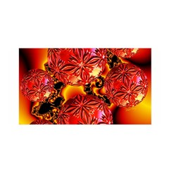 Flame Delights, Abstract Red Orange Satin Wrap by DianeClancy