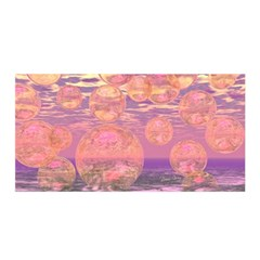 Glorious Skies, Abstract Pink And Yellow Dream Satin Wrap by DianeClancy