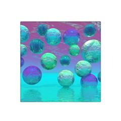 Ocean Dreams, Abstract Aqua Violet Ocean Fantasy Satin Bandana Scarf by DianeClancy