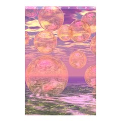 Glorious Skies, Abstract Pink And Yellow Dream Shower Curtain 48  X 72  (small)  by DianeClancy